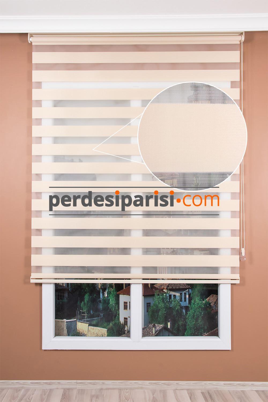 Düz Bej Zebra Perde (230x200)