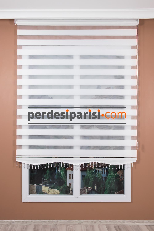 Düz Beyaz Zebra Perde (140x200)