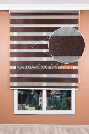 Kahve Karartma Blackout Zebra Perde