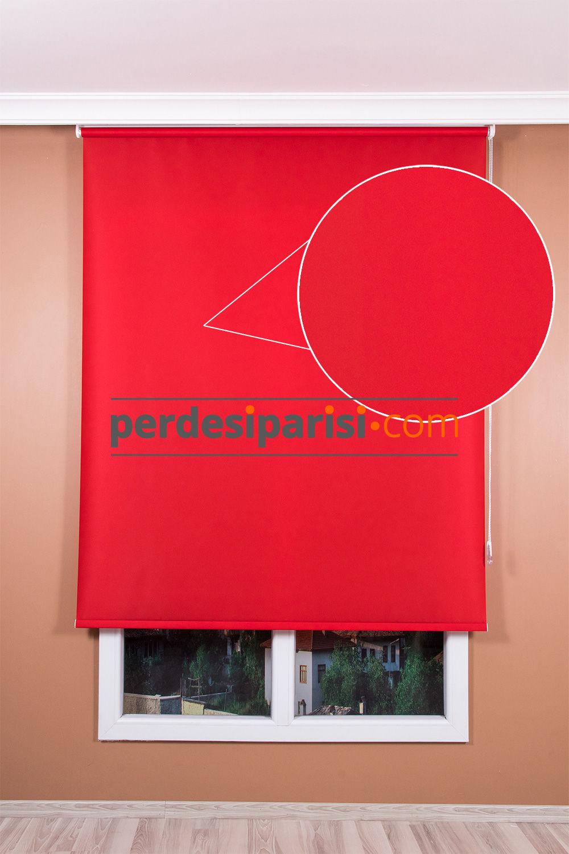 Promosyonel Kırmızı Stor Perde (150x200)