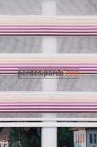 Ekru Mor Renkli Plise Zebra Perde