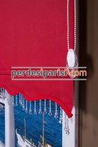 Kırmızı Mat Stor Perde