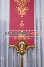 Sultani Altın Varaklı Stor Fon Perde