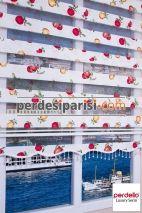 Meyve Baskılı Mutfak Zebra Perde