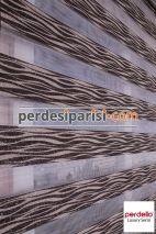 Venge Ağaç Kabuğu Simli Zebra Perde