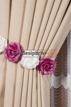 Fuşya-Beyaz Çiçekli Braçol