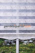 Gri Açelya Mikro Plise Zebra Perde