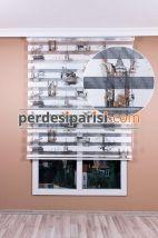 Mat Kahve İstanbul Zebra Perde