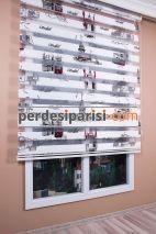 Mat Kırmızı İstanbul Zebra Perde