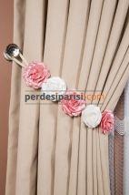 Pembe-Beyaz Çiçekli Braçol