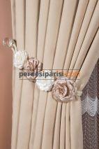 Vizon-Beyaz Çiçekli Braçol