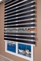 Lüx Siyah Düz Zebra Perde