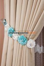 Mavi-Beyaz Çiçekli Braçol