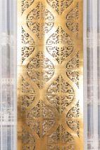 Altın Damask Lazer Deri Fon Perde