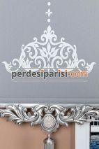 Beyaz Düz Zebra Perde - Gümüş Varaklı