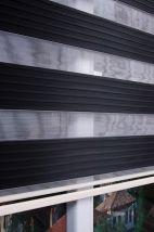 Mat Siyah Plise Zebra Perde