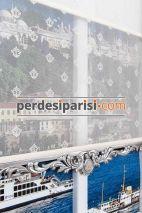 Mini Damask Çiftli Stor Perde - Gümüş Varaklı