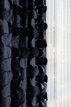 Siyah Dalgalı Lazer Fon Perde