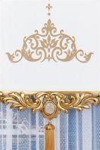 Saray Altın Varak Stor Fon Perde