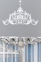 Saray Gümüş Varaklı Stor Fon Perde