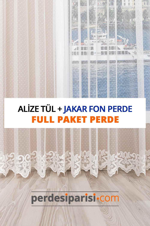 Alize Örme Tül + Degrade Fon Perde (Full Paket)