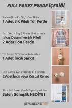 Alyans Brode Tül + Jakar Fon Perde (Full Paket)
