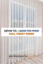 Aşiyan Kdk Tül + Jakar Fon Perde (Full Paket)