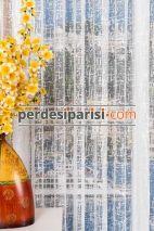 Mozaik Örme Tül + Düz Fon Perde (Full Paket)