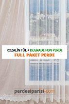 Rozalin Örme Tül + Degrade Fon Perde (Full Paket)