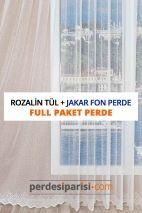 Rozalin Örme Tül + Jakar Fon Perde (Full Paket)