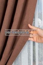 Kahverengi Fon Perde