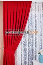 Kırmızı Fon Perde