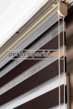 İpeksi Kahverengi Bambu Zebra Perde