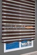 Koyu Kahverengi Düz Zebra Perde