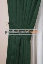 Koyu Yeşil Fon Perde