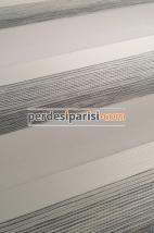 Mabel Açık Gri Çizgili Bambu Zebra Perde