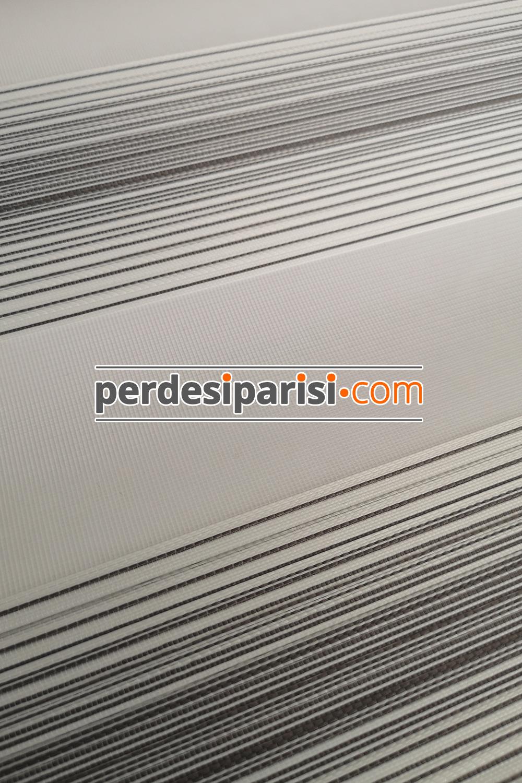 Martina Beyaz Vizon Çizgili Bambu Zebra Perde