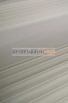 Marbella Beyaz Geniş Plise Zebra Perde