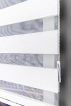 Aria Gümüş Sim Çizgili Mikro Plise Zebra Perde