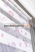 Kids Paris Baskılı Zebra Perde
