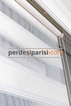 Versace Beyaz Plise Zebra Perde