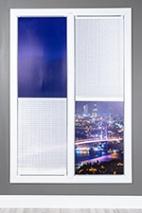 Toronto Beyaz Simli Cam Balkon Plise Perde